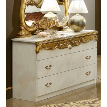 Barocco Single Dresser, Ivory + Gold