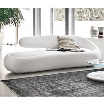 Duny Sofa, White Leather