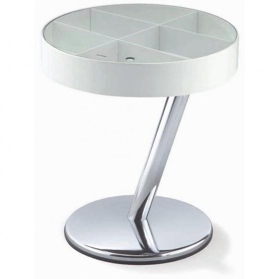 Enta-25 End Table, White photo