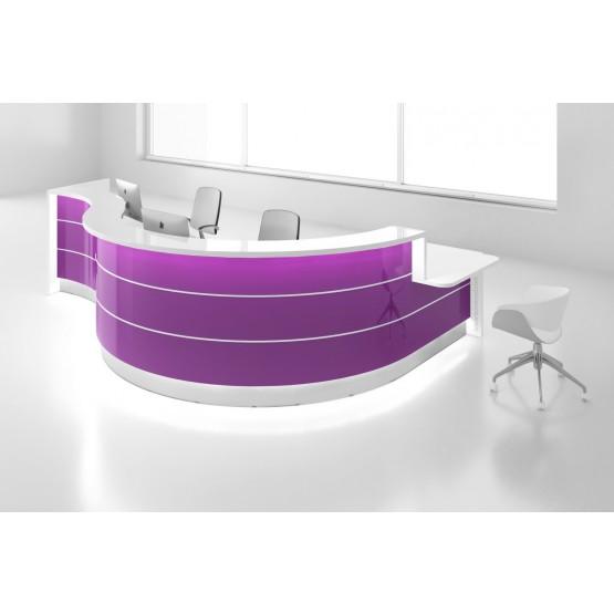 Valde LAV163L Reception Desk, High Gloss Fuchsia photo