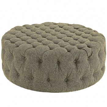 Amour Fabric Ottoman, Oatmeal by Modway