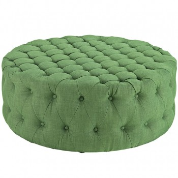 Amour Fabric Ottoman, Kelly Green by Modway