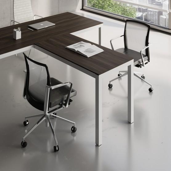 Impuls Desk Extension IM07, White Pastel + Chestnut photo