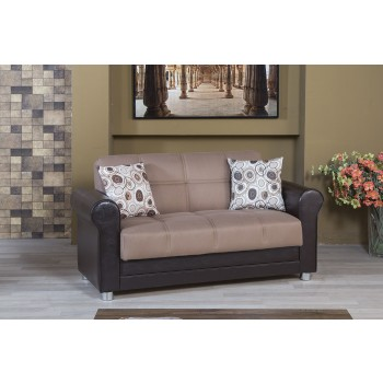 Avalon Loveseat, Prusa Brown by Casamode