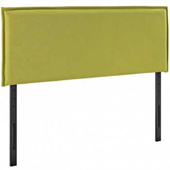 Camille Queen Fabric Headboard, Wheatgrass by Modway
