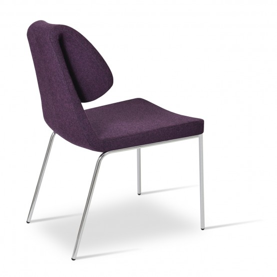 Gakko Chair, Chrome, Deep Maroon Camira Wool photo
