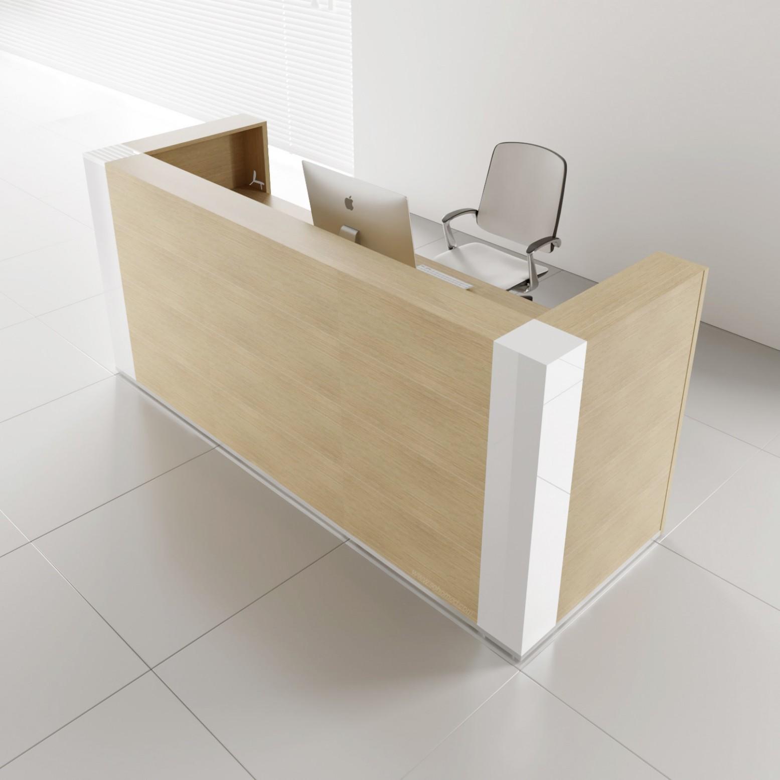Tera TRA121 Reception Desk, Canadian Oak Buy Online at ...
