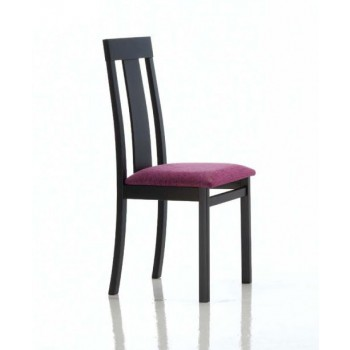 Ania Dining Chair, Black Base, Violet  Upholstery