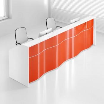 Wave LUV21 Reception Desk, High Gloss Orange