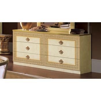Aida Double Dresser, Ivory + Gold