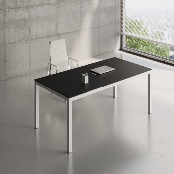 Impuls Desk IM05, White Pastel + Black