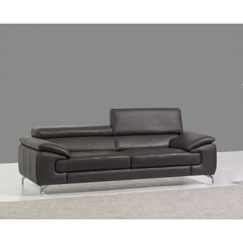 A973 Italian Leather Sofa, Grey by J&M Furniture