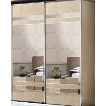 Ambra 2 Sliding Mirrored Doors Wardrobe