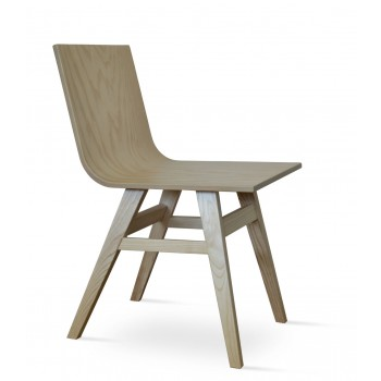 Melis Wood Dining Chair, American Natural Ash Base, Ash Veneer Plywood Seat by SohoConcept Furniture