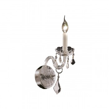 "Alexandria 1-Light 4"" Chrome Wall Sconce in Elegant Cut"