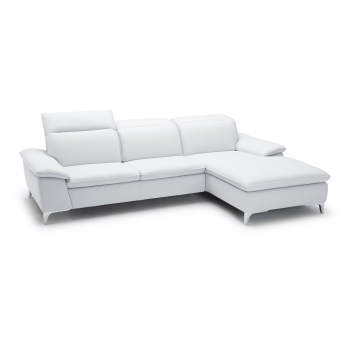 1911B Sectional, Right Arm Chaise Facing, White by J&M Furniture