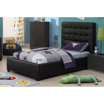 Athens Twin Size Bed, Black