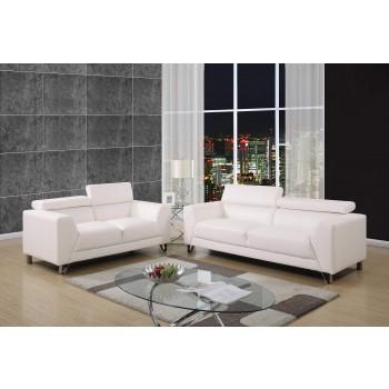 U8210 3-Piece Living Room Set, White