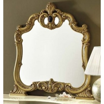 Barocco Mirror, Ivory + Gold