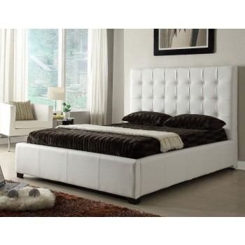 Athens Queen Size Bed, White