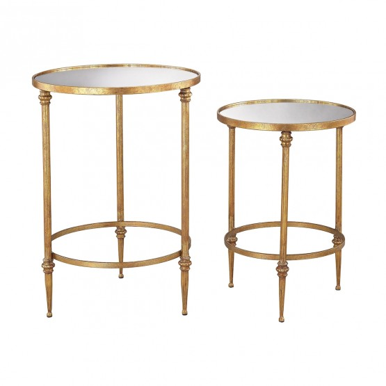 Alcazar Accent Tables In Antique Gold And Mirror photo