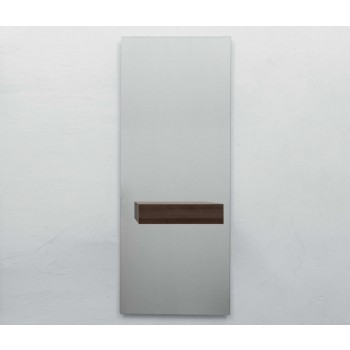 Alicante Silver Mirror with Drawer, Dark Oak Heat-Treated