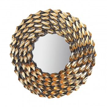 Fluted Wreathed Mirror