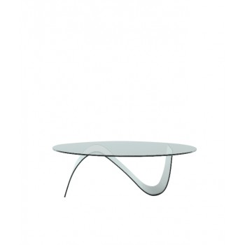 Alissa Oval Coffee Table, Clear Transparent