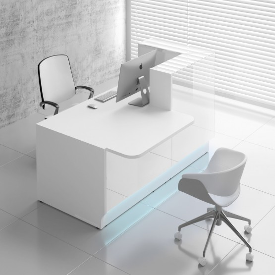 Linea LIN29P Reception Desk, White photo