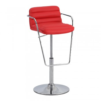 0692 Ribbed Pattern Pneumatic Stool, Red