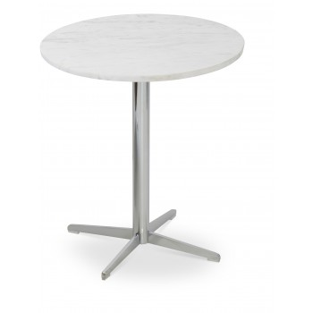 Diana End Table, Chrome, Marble by SohoConcept Furniture