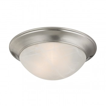 3 Light Flushmount Lamp in Brushed Nickel