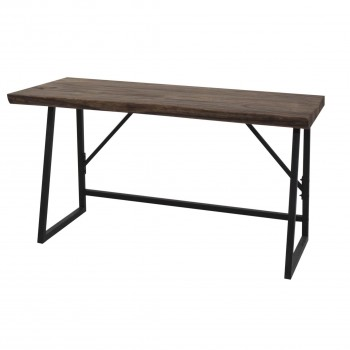Carsten Desk, Black Iron Legs by NPD (New Pacific Direct)