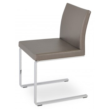 Aria Flat Dininng Chair, Golden PPM by SohoConcept Furniture
