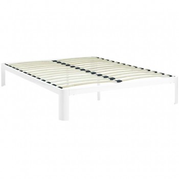 Corinne King Bed Frame, White by Modway