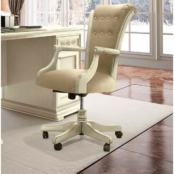 Torriani High Back Office Chair, Ivory photo