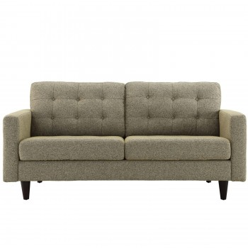 Empress Upholstered Loveseat, Granite by Modway