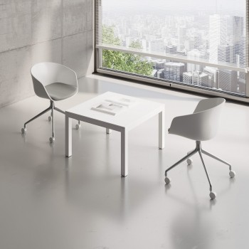 Impuls Small Table IM57, All White Pastel