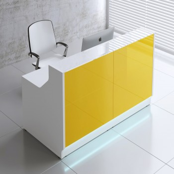 Linea LIN15 Reception Desk, Yellow