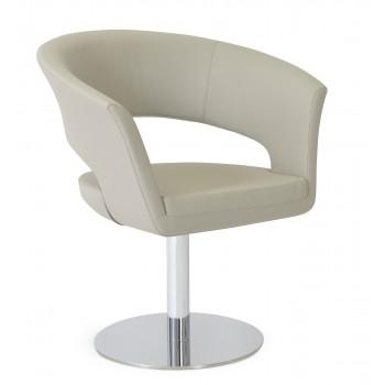 Ada Swivel Round Armchair, Bone PPM by SohoConcept Furniture