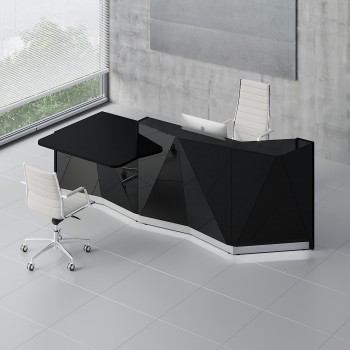 Alpa ALP22P Reception Desk, Black