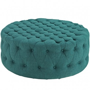 Amour Fabric Ottoman, Teal by Modway