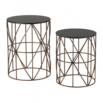 Bradfield Drum Side Tables - Set of 2