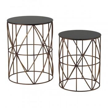 Bradfield Drum Side Tables - Set of 2