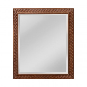 Angled Carved Wood Frame Mirror - Small