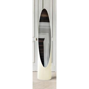 Kolonaky Mirror, Havana White Eco-Leather