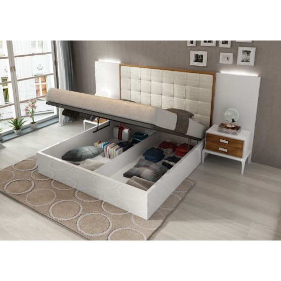 Malaga Queen Size Bed Bed w/Storage photo