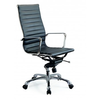 Comfy High Back Office Chair, Black by J&M Furniture