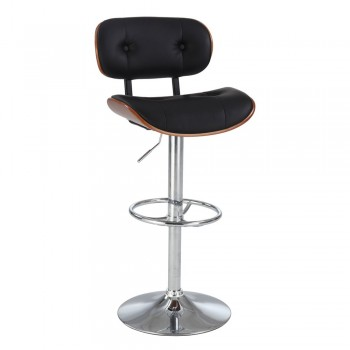 0660 Quilted-Back Pneumatic Gas Lift Swivel Stool, White