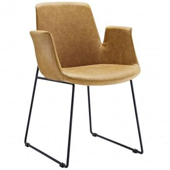 Aloft Dining Armchair, Tan by Modway